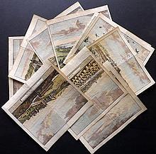 Aa, Pieter Van der Aa 1707 Lot of 10 Hand Col Views of Scotland after Kip, Slezer