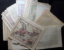 Maps C1855/1915 Mixed Lot of 75 Maps by Colton, Johnson, Century Atlas, Rand & McNally