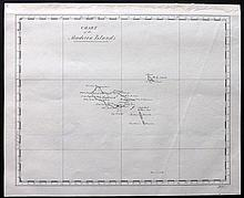 Madeira, Portugal 19th Century. Manuscript Map. Chart of the Madeira Islands after William Heather