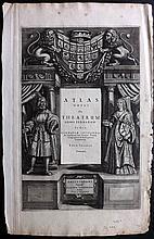Jansson, Jan C1650 Copper Engraved Title Page to Atlas Novus