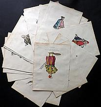 Jefferys, Thomas C1760 Lot of 41 Costume Prints with Contemporary Hand Colour
