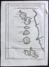 Bellin, Jacques C1750 Map of Moluccas, Indonesia