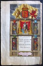 Blaeu, Jan & Willem 1645 Hand Coloured Engraved Title Page to Atlas Novus