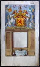 Blaeu, Jan & Willem 1662 Hand Coloured Engraved Title Page to Atlas Maior. Scotland Interest