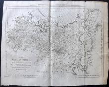 Bowen, Thomas C1790 Copper Engraved Map of the Russian Empire