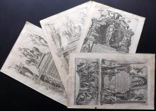 Braun, Georg & Hogenberg, Franz 1572-98 Group of 4 Title Pages to Civitates Orbis Terrarum