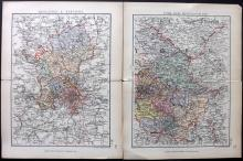 British County Maps 1831-1885 Lot of 84 Steel & Lithographed Maps