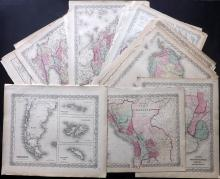 Colton, Joseph Hutchins & Johnson, Alvin Jewett C1856-C1875 Lot of 22 Country Maps