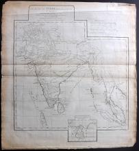 d'Anville, Jean Baptiste Bourguignon 1788 Map of India
