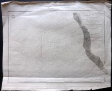Depot de la Marine 1850 Large Coastal Chart Vado, Tuscany Coast, Italy