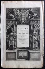 Jansson, Jan 1640's Copper Engraved Title Page to Atlas Novus