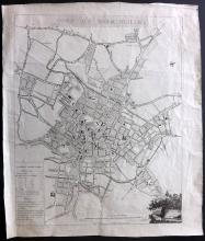 Kempson, John 1808 Rare Map Plan of Birmingham