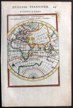Mallet, Alain Manesson 1683 Hand Coloured Map of the Eastern Hemisphere