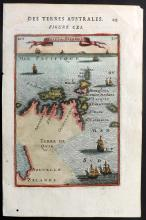 Mallet, Alain Manesson 1683 Hand Coloured Map of the Solomon Islands & Part of New Zealand