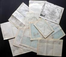 Maps 1777-1882 Lot of 13 Maps. UK, USA, Canada, Australia etc. Docks, Maritime interest