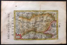 Mercator, Gerard & Hondius, Jodocus  1637 Hand Coloured Map of Austria