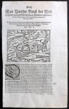 Munster, Sebastian C1572 Woodcut Map of Denmark, Sweden & Scandinavia