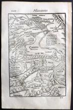 Munster, Sebastian C1575 Woodcut Map of Armenia, Russia, Black Sea