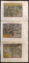 Ortelius, Abraham 1593 Group of 3 Hand Coloured Maps of North Africa