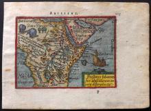 Ortelius, Abraham 1593 Hand Coloured Map of Arabia & North Africa