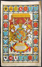 Speed, John & Hondius, Jodocus 1612 Armorial Dedication from The Theatre of the Empire of Great Britaine