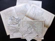 USA 19th Century Lot of 8 Steel Engraved Maps