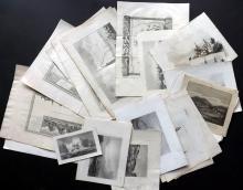 World Views 18th-19th Century. Lot of 24 Antique Prints