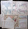 Africa C1860-1913 Lot of 11 Maps. South Africa, Egypt, Tunisia, Morocco, Algeria