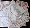 Asia C1860-1913 Lot of 21 Maps. Philippines, China, Japan, India & East Indies