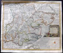 Bowen, Emanuel 1778 Hand Coloured Map of Essex, UK
