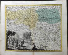 Koehler, Johann David & Weigel, Christoph 1719 Hand Coloured Map of Carinthia, Austria