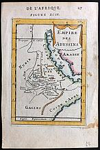 Mallet, Alain Manesson 1683 Hand Coloured Map of Abyssinia, Ethiopia, Arabia