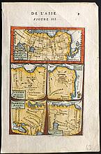 Mallet, Alain Manesson 1683 Hand Coloured Map of Ancienne Asie, Scythie, Sarmatie. Asia India China