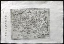 Mercator, Gerard & Hondius, Henricus 1637 Map of Boulogne-sur-Mer, France