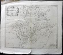 Morden, Robert C1700 Map of Monmouth, Wales