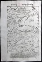 Munster, Sebastian C1580 Map of Armenia, Russia, Black Sea