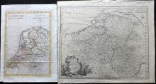 Netherlands C1750-1804 Pair of Maps by Bowen & Guthrie