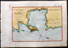 Roux, Joseph C1790 Hand Coloured Map of Leros, Greece