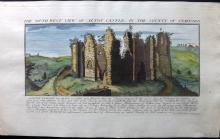 Buck, Samuel & Nathaniel 1731 Hand Coloured View of Alton Castle, Staffordshire