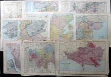 Bacon, George. W (Pub) 1880's/90's Lot of 30 Lithograph Maps of British Counties
