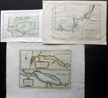 Bellin, Jacques Nicolas 1764 Group of 3 Maps of The Senegal River, Guinea & Angola