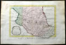 Bellin, Jacques Nicolas 1773 Hand Coloured Map of Mexico