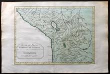 Bellin, Jacques Nicolas 1773 Hand Coloured Map of Peru