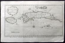 Bellin, Jacques Nicolas C1750 Map of the Moluccas, Indonesia East Indies