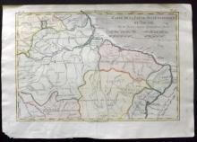 Bonne, Rigobert C1780 Hand Coloured Map of Brazil