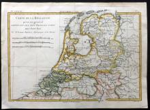 Bonne, Rigobert C1780 Hand Coloured Map of Holland Netherlands