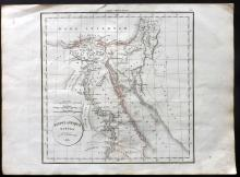 Delamarche, Felix 1832 Map of Egypt
