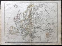 Delamarche, Felix 1832 Map of Europe