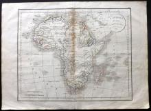 Delamarche, Felix 1832 Map of the African Continent