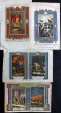 Historical/Military 1784-94 Group of 4 Hand Coloured Prints by Spencer & Thornton